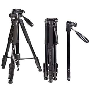 "POLAM-FOTO 70""/176.5cm 2-in-1 Tripod Monopod-Camera Tripod AluminumTravel Tripod with Bag for Canon/Nikon/Sony DSLR/SLR Camera"