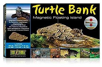 Exoterra Plage Mobile Turtle Bank avec Aimants pour Reptiles et Amphibiens Moyen Modèle 30x18x5 cm PT3801