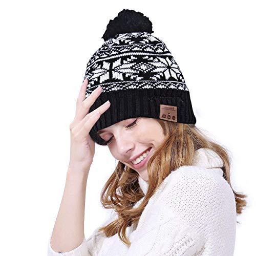 BestFire Bluetooth Beanie Headphones Winter Knitted Wireless Music Headset Hat Mic Stereo Speaker Running, Skiing,Skating, Men Women
