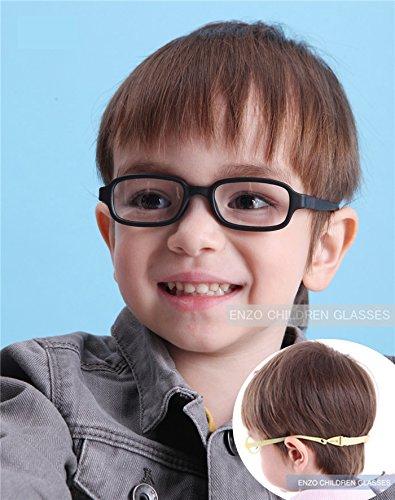 EnzoDate Children Optical Glasses Frame Size 43/16 with Strap, Safe Bendable