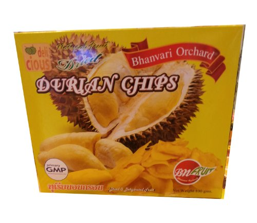 Dried Fruit Durian Chips Bhanvari Orchard Brand Thailand 1 Pack