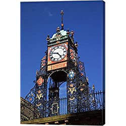 Eastgate Clock, Chester, Cheshire, England by Paul Thompson/Danita Delimont Canvas Art Wall Picture, Gallery Wrap, 23 x 34 inches