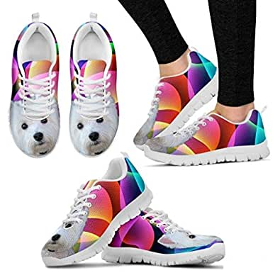 Amazon.com | Pawlion Westie Dog Running Shoes for Women