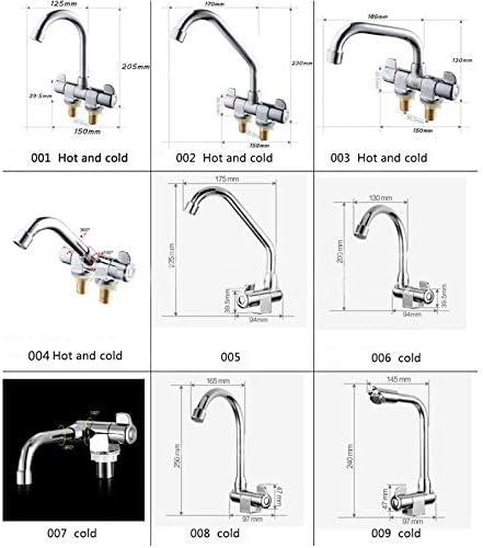 Semoic RVアクセサリーRVフォールディング360回転 浴室デッキキャラバンボートマウントされた蛇口キッチンコールド&温水タップ ユニバーサル004
