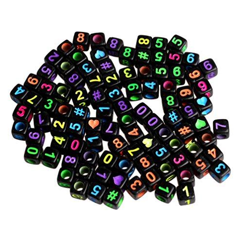 Zadaro 200pcs 6mm Mixe Acrylic Alphabet Letter