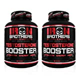 (2 Bottles) Testosterone Booster for Men - Estrogen Blocker - Supplement Natural Energy, Strength & Stamina - Lean Muscle Growth - Promotes Fat Loss - Increase Male Performance