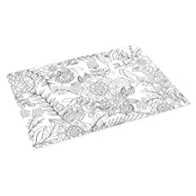 Abbott Collection Home Adult Colouring Table Mats, White
