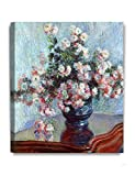 DECORARTS Chrysanthemums, Claude Monet Art Reproduction. Giclee Canvas Prints Wall Art for Home Decor 20x24