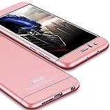 Honor 8 Case,GKK Double Dip Ultra Slim Knight Series For Huawei Honor 8 Hybrid PC [HARD] Full Protection Matte Phone Case (Rose Gold)