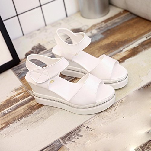 Womens Sandals,Clode® 2017 Fashion Ladies Girls Summer Platform Wedges Peep Toe Casual Sandals Summer Beach Shoes Beige