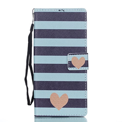 Urberry Galaxy Note 8 Case, Love stripe Pattern Wallet Case for Samsung Galaxy Note 8 with a Screen (Samsung Stripe)