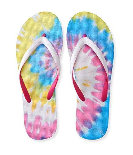 Flop Aeropostale Flip (Aeropostale Womens Tie-Dye Flip Flop Sandals White 8)