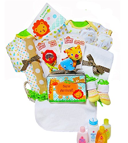 Jammin' in the Jungle | Baby Gift Basket (Gender Neutral)
