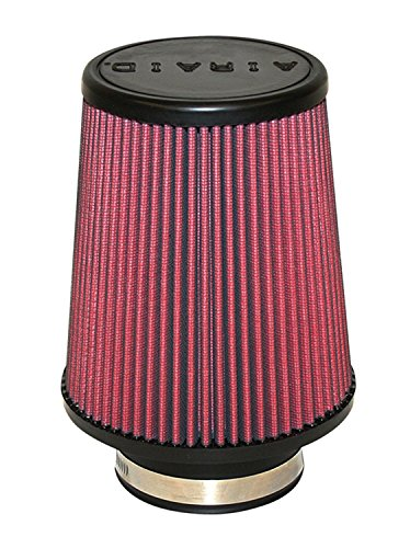 Airaid 701-451 Universal Clamp-On Air Filter: Round Tapered; 3.5 in (89 mm) Flange ID; 7 in (178 mm) Height; 6 in (152 mm) Base; 4.625 in (117 mm) Top