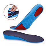 """Breathable Height Insoles 4cm(1.57"""")Shock Absorption Insoles Heels Lift for Men and Women (L)"""