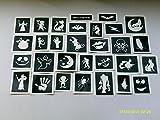 100 x Halloween themed stencils for boys girls glitter tattoos airbrush tattoos walls ghost monster bat cat