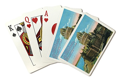 Quebec, Canada - Exterior View of the Chateau Frontenac and Dufferin Terrace (Playing Card Deck - 52 Card Poker Size with Jokers)