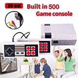 ZTPOWER Classic Game Consoles,FC Mini Game Consoles Built-in 500 TV Video Games with Double Controllers
