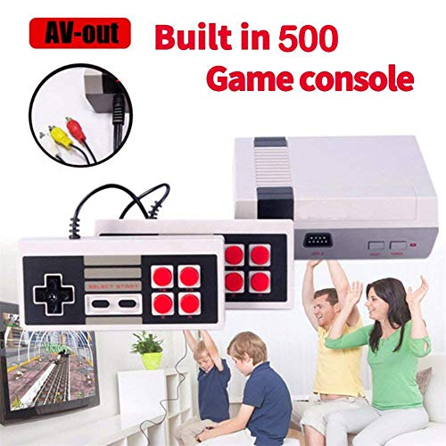 ZTPOWER Classic Game Consoles,FC Mini Game Consoles Built-in 500 TV Video Games with Double Controllers by ZTPOWER