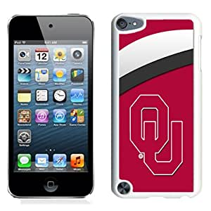 Fashionable And Unique Designed With NCAA Big 12 Conference Big12 Football Oklahoma Sooners 2 Protective Cell Phone Hardshell Cover Case For iPod 5 Phone Case White