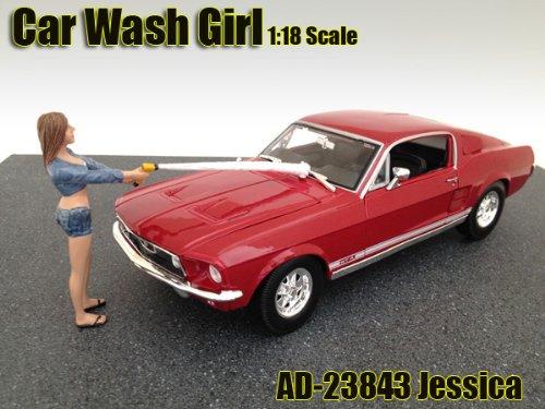Car Wash Girl Jessica Figurine / Figure For 1:18 Models by American Diorama 23843 - Diorama Part