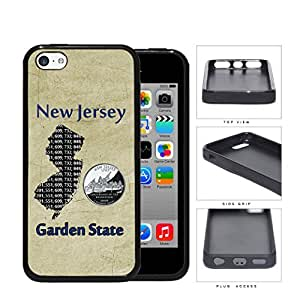 New Jersey State Tag Grunge Scraped Rubber Silicone TPU Cell Phone Case Apple iPhone 5c