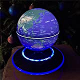 8 LED Light Levitation 6'' Magnetic Rotating Globe Floating Levitating Earth USA