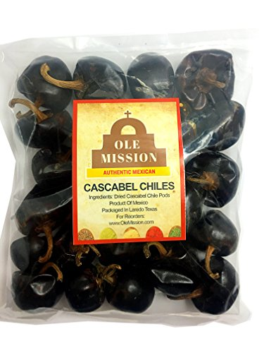 Cascabel Chiles Dried 3 oz Chili Pepper For Mexican Recipes, Tamales, Salsa, Chili, Meats, Soups, Stews And Grill By Ole Mission