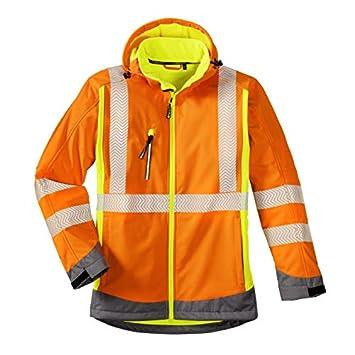 Bekleidung & Schutzausrüstung Softshelljacke mit Kapuze Gr.XXXL anthrazit/leuchtorange Funsport