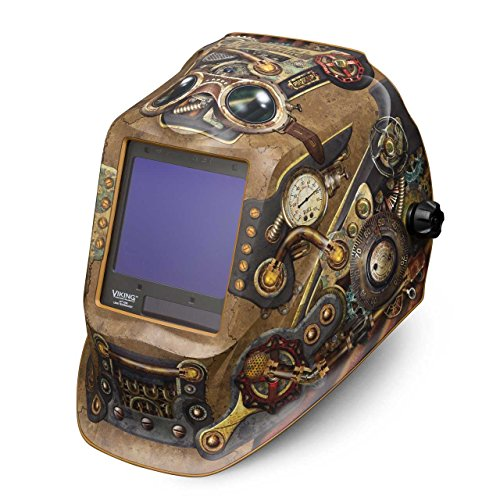 - Lincoln Electric VIKING 3350 Steampunk Welding Helmet with 4C Lens Technology - K3428-3