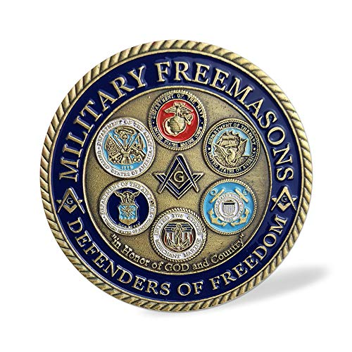 - Proud Military Family Masonic Challenge Coin - Pround to Be One
