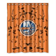 "DONGMEN Generic NHL New York Islanders Polyester Fabric Shower Curtain 60""(W) x 72""(H)"