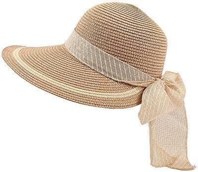 Straw Hat Fashion Elegant Atmosphere Bow Notch Visor Hat