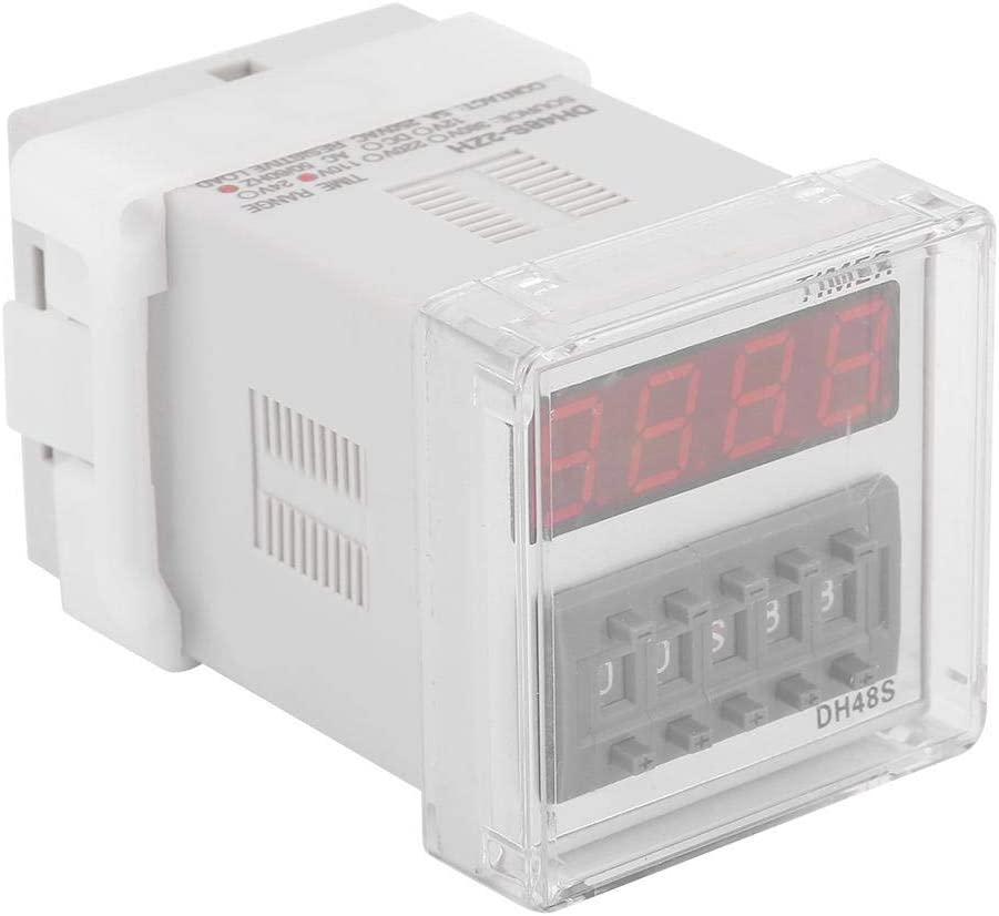 DH48S-2ZH Digital LED Power On Delay Time Relay 0.01S-99H99M 8-Pin DPDT Control Module Power On Delay Relay Delay Time Relay 110VAC Power On Delay Timer Relay