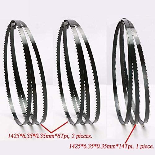 "ZDX-MGGJ, 8"" Sägebänder 6.35 * 0.35 * 1425mm * 6Teeth Holzverarbeitung Sägebänder Durable 1425 * 6,35 * 0,35 mm * 14Teeth for Curve (Size : 6Tpix2 and 14Tpix1)"