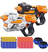 POKONBOY 2 Pack Blaster Gun Toy Guns, Soft Foam Dart Blaster Compatible with Nerf Guns with 2 Wri...