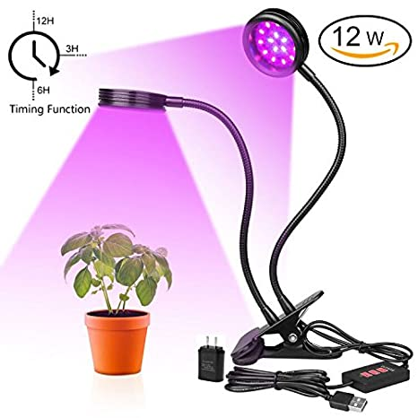 Lampada A LED Per Piante IThird, 12 W, Ideale Per La Crescita Delle Piante