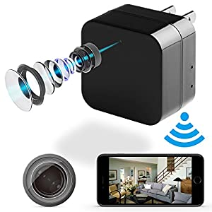 Hidden Camera - WiFi Remote View - 1080p HD - Motion Detection - with Charging Function (Support 128G Micro SD Card) by JOWTTE
