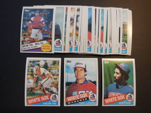 Chicago White Sox 1985 Topps Baseball Team Set (34 Cards) (Tom Seaver) (Harold Baines) (Carlton Fisk) (Tony LaRussa)