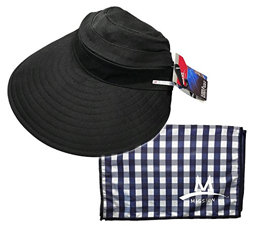 - MISSION Cooling Accessories Multi Pack Includes Garden Hat/Large Towel (2 Pack), Navy & Blue, One Size