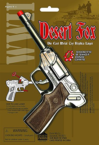 Parris Manufacturing Desert Fox WWII Die Cast Metal Toy Replica Luger ()