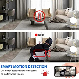 Hidden Camera Clock, WiFi Spy Camera Wireless Hidden, 1080P Nanny Cameras and Hidden Cameras with Night Vision and Motion Detective, Perfect 150 Angle Camera Clock for Home Security 【New APP】