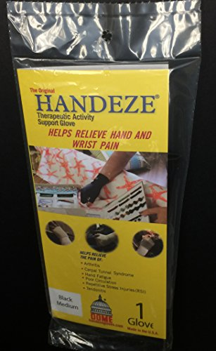 Handeze Therapeutic Glove, Medium Size 4, Black, Single ()