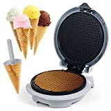 Chef Buddy Waffle Cone Maker with Cone Form - Like an Ice Cream Shoppe at Home