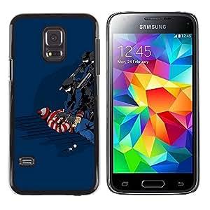 // PHONE CASE GIFT // Duro Estuche protector PC Cáscara Plástico Carcasa Funda Hard Protective Case for Samsung Galaxy S5 Mini, SM-G800 / Funny Waldo Caught /