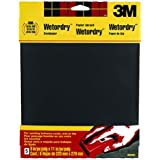 3M Wetordry Sandpaper, 9-in by 11-in, Assorted Grit, 5-Sheet, 9088DC-NA