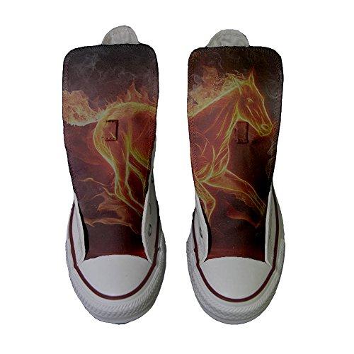 Handwerk Custom personalisierte Pferd Produkt Converse Schuhe feurigen w8gqx4f