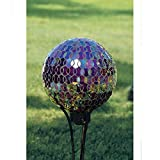 Carson Mosaic Plum Iridescence 10 Gazing Ball