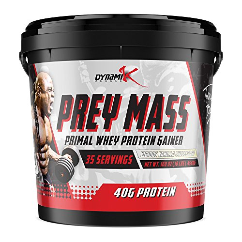 Prey Mass | Dynamik Muscle | Mass Gainer | Formulated By Kai Greene (Vicious Vanilla Cheesecake)