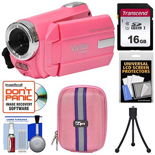 Vivitar DVR 508 NHD Digital Video Camera Camcorder  with 16G